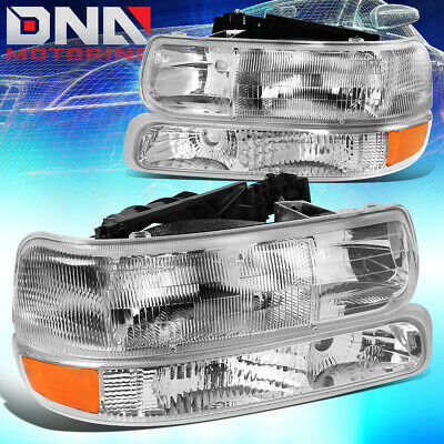 $79.49 • Buy For 1999-2006 Chevy Silverado Suburban Tahoe Chrome/clear Headlight+bumper Lamps