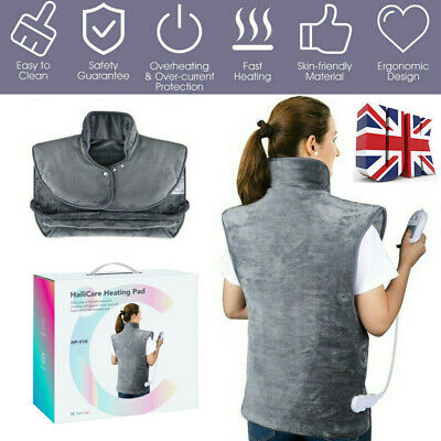 Electric Heat Pad Shoulders Back Neck Heating Pain Relief Body Warming Mat UK • 33.99£