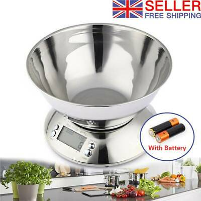 5kg Electronic Kitchen Scales Digital LCD Bowl Cooking Food Baking Weighing ^^ • 13.79£
