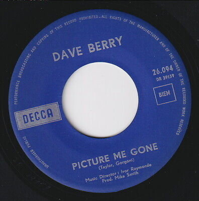 £11.99 • Buy Dave BERRY * Picture Me Gone * 1966 Northern SOUL MOD R&B Dancer * Listen!