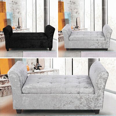 Fabric Bench And Ottoman With Storage Upholstered Window Seat Footstool Entryway • 139.14£