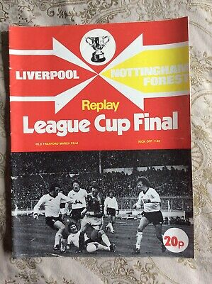 Liverpool V Nottingham Forest Replay League Cup Final Programme • 2.50£
