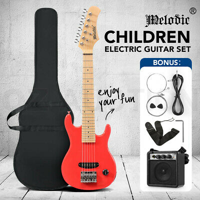 AU119.95 • Buy Melodic New 30 Inch Children Electric Guitar W/ 5W Amp Backpack Strap Pink