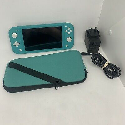 AU242.99 • Buy Nintendo Switch Lite (Turquoise, 32 GB) W/ Charger & Case - Tested & Working VGC