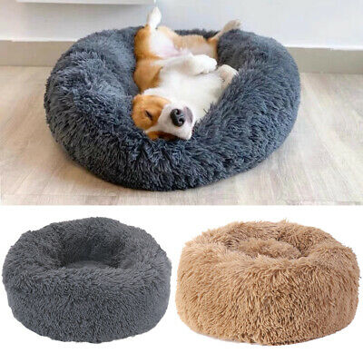 Soothing Warm Pet Dog Calming Beds Anti Anxiety Fluffy Beds Nest Mattress Donut • 15.97£