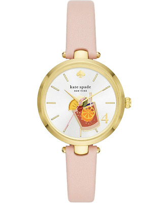$ CDN87.71 • Buy NEW Kate Spade New York Holland Blush Leather Cocktail Watch KSW1629