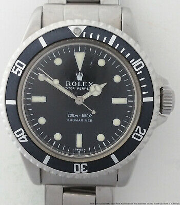 $ CDN2927.65 • Buy Rolex 5512 Pointed Crown Guard Submariner Mens Watch W/ Papers From Rolex Corp