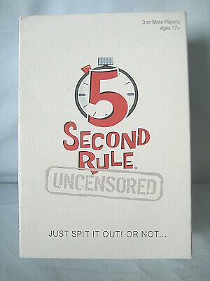 AU16.50 • Buy 5 Second Rule Uncensored Game