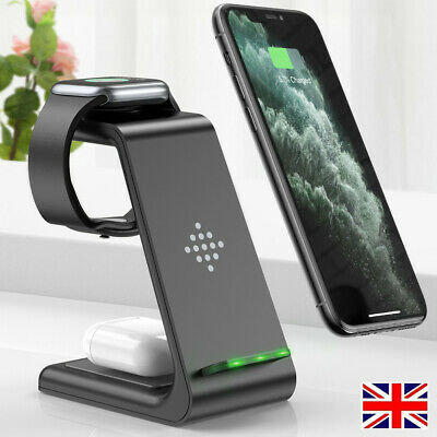 3 In 1 Wireless Charger Dock Charging Station For Apple Watch IPhone 12 11 XS 8+ • 22.95£