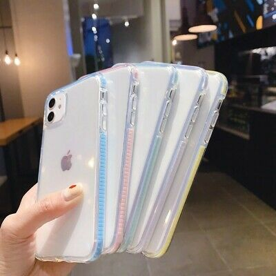 AU9.99 • Buy IPhone 12 PRO MAX 12 MINI 11 SE 2020/7/8 Slim Clear Soft Shockproof Bumper Case