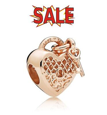 New Genuine Pandora Rose Gold Love You Lock Heart Charm 787655 With Pouch • 16.99£