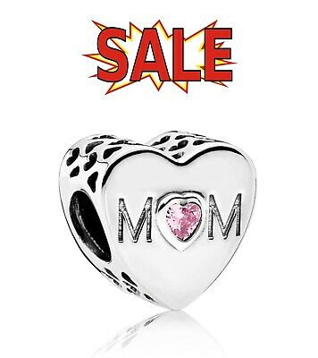 Genuine Pandora Sterling Silver Mum Love Charm 791881PCZ ALE 925 With Pouch • 14.99£