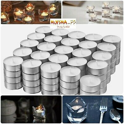 Pack Of 100 Ikea Glimma Tealights White 38mm 4 Hours Burring Time Home Décor • 8.99£