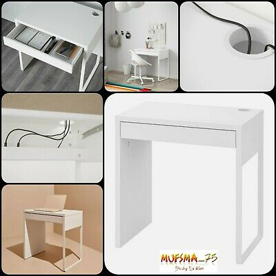 Ikea Micke Desk White 73x50 Cm For Home Office With Drawer Working Study Writing • 69.99£