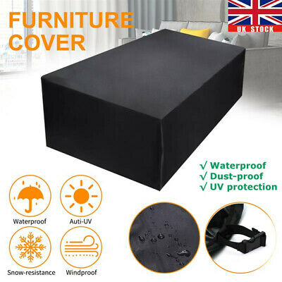 Heavy Duty Garden Patio Furniture Table Cover For Rattan Table Cube Set Outdoor • 16.99£