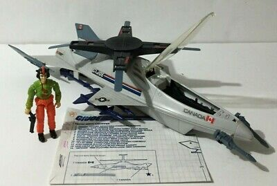 $ CDN65 • Buy GI JOE VINTAGE SKYSTORM X-WING CHOPPER COMPLETE W WINDMILL & BLUEPRI HASBRO 1988