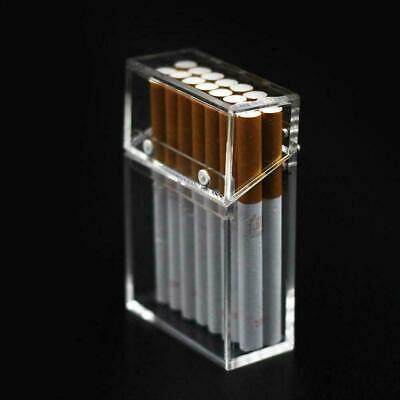 Acrylic Transparent Cigarette Case Thick Portable Lighter Package Storage Box • 7.29£
