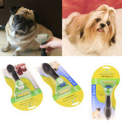 Pet Hair Brush Fur Shedding Trim Rake Dog Cat Grooming Tool Stainless Steel Comb • 8.39£