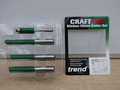 Trend Craftpro 4pce Kitchen Fitters Router Bit Set Cr/kfp/1 • 29.85£