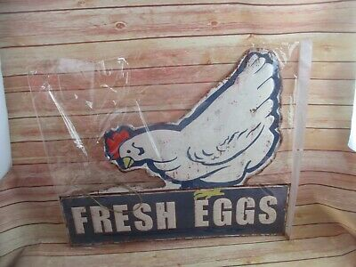Ein Large Tin Sign Fresh Eggs • 27.12£