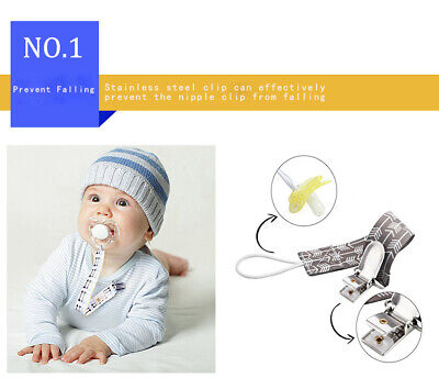 Dummy Clips Pacifier Strap Clip Chain Teether Clip • 2.09£