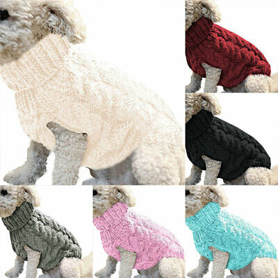 £4 • Buy Winter Pet Clothes S-XL Knitted Puppy Dog Jumper Sweater Cat Coat For Small Dogs