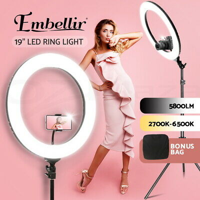 AU96.90 • Buy Embellir Ring Light With Stand 19 Inch Phone Tripod LED 6500K 5800LM Dimmable