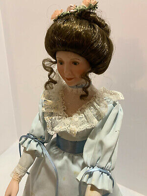 $ CDN9.08 • Buy Sandra Kuck Porcelain Doll W Stand Victorian Reco 1989 No. 5397A - 17  Pre-owned