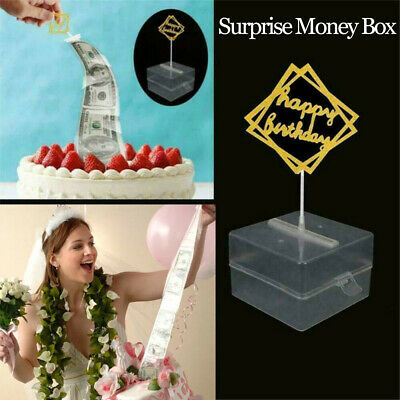 Cake Topper Surprise Money Box Storage Boxes Making Mold Party Decoration Funny • 4.78£