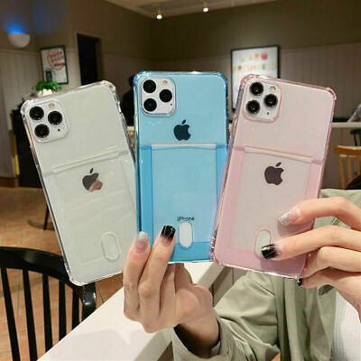 AU8.59 • Buy IPhone 12 Pro Max Mini 11 XR 7 8 CARD HOLDER Case Shockproof Cover Wallet Money