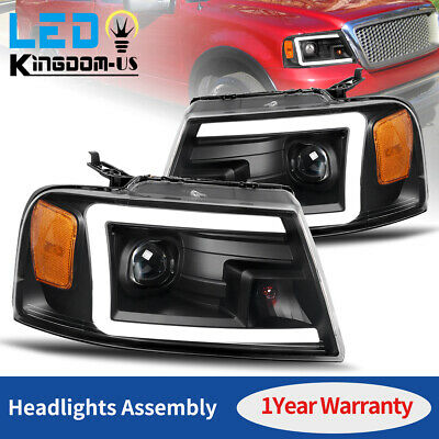 $246.61 • Buy Headlights Assembly For 2004-2008 Ford F-150 Black Projector LED DRL Headlamps
