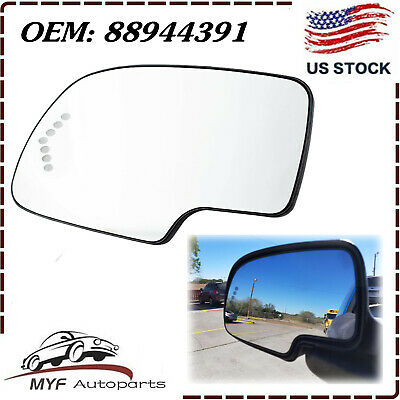 $12.82 • Buy Heated Mirror Glass Driver Side LH For 2003-2007 GMC Chevy Cadillac