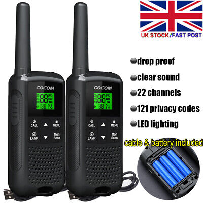 Baofeng Walkie Talkie 2W 22 CHF RS 462-467MHz VHF / UHF Dual Band Two Way Radio • 25.99£