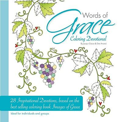 £4.97 • Buy Words Of Grace Colouring Devotional By Jacqui Grace Christian Religious Gift