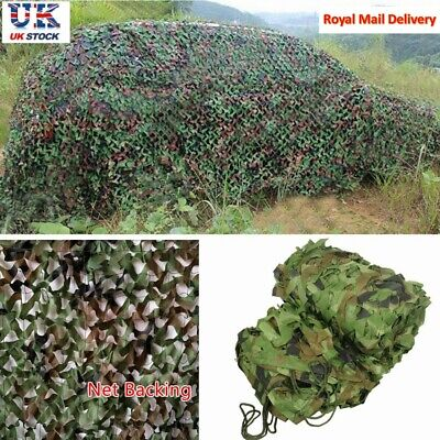 Camo Net Cover Camouflage Netting Hunting Shooting Camping Army Hide Color 7 Siz • 12.99£