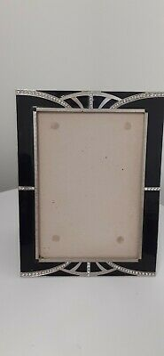 Art Deco Style Picture Frame Black With Diamante  Detailling Without Glass • 2.60£