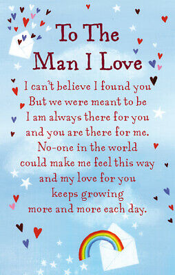 To The Man I Love Heartwarmers Keepsake Credit Card & Envelope Gift • 2.79£