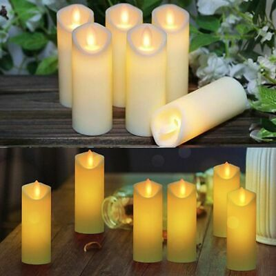 Electronic Flameless LED Candle Flickering Tea Light Wedding Home 4x10.8cm • 14.99£