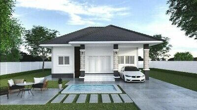 Modern House Home Building Plans 3 BedRoom 2 BathRoom Garage With CAD Fi • 7.15£