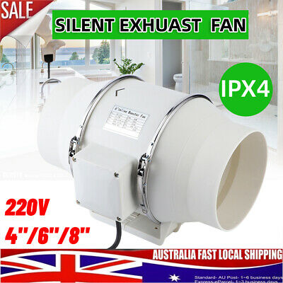 AU85.98 • Buy 4/6/8  Inch Extractor Fan Duct Hydroponic Inline Exhaust Industrial Vent 2 Speed