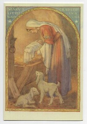 Margaret Tarrant Marys Little Baby Cradled  Medici Christmas Greeting  Card  • 1.75£