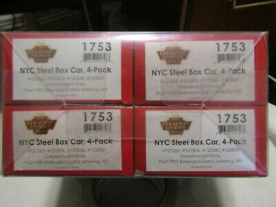 $ CDN157.08 • Buy 4 Pack HO Trains Broadway Limited New York Central  Steel Box Cars 1753