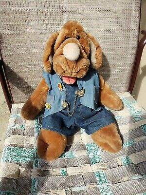 £24.88 • Buy Wrinkles 1981 Dog Hand Puppet Stuffed Toy Collect Plush Animal Vest Pin 746901