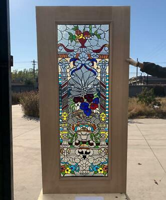 $1500 • Buy Hand Made Leaded Stained Glass Mahogany Entry Door - Jhl2167 - 69
