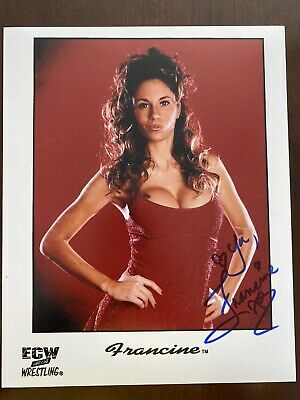 """$ CDN18.87 • Buy """"The Queen Of Extreme"""" Francine AUTO 8x10 W/ Proof ECW WWE"""