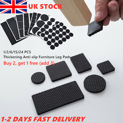 Self-Adhesive Floor Protectors Chair Leg Pads Table Rubber Pad Feet Anti-Scratch • 2.65£