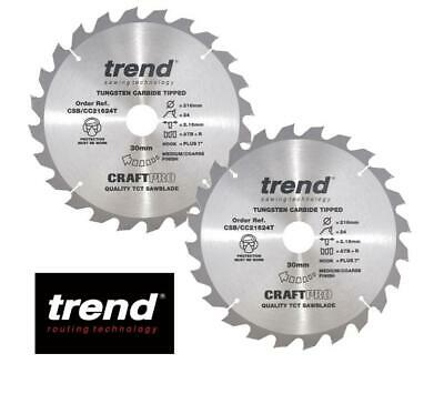 £19.99 • Buy Trend Craft Pro Csb/cc21624 216mm 24 Tooth Thin Kerf Blade Brand New