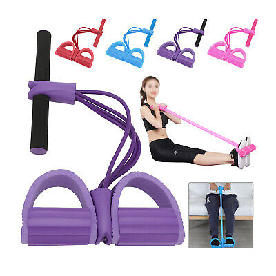 $ CDN6.14 • Buy Fitness Tension Rope Foot Pedal Exercise Pull Resistance Bands Trainer UK