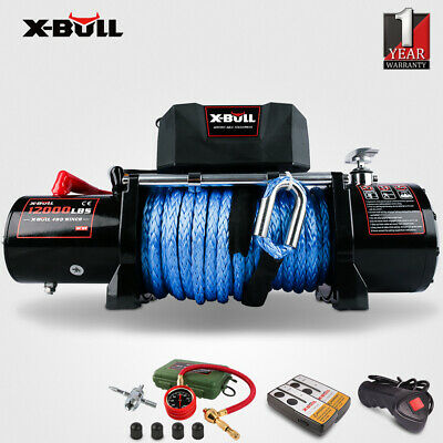 AU399 • Buy X-BULL 14500LBS Electric Winch 12V 26m Synthetic Rope Wireless Remote 4x4 4WD