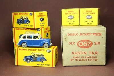 Dinky Toys - Dublo - Austin  Taxi  Trade Pack - Dinky Toys 067 • 663.04£